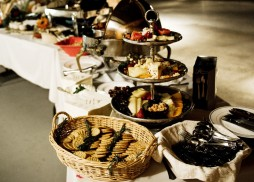 wedding buffet by Flavors Catering