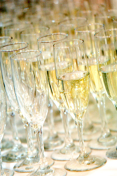 glasses of champagne at a special event